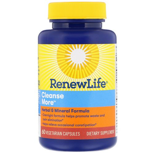 Renew Life, Cleanse More, 60 Vegetarian Capsules فوائد