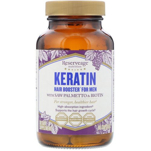ReserveAge Nutrition, Keratin Hair Booster for Men, 60 Capsules فوائد