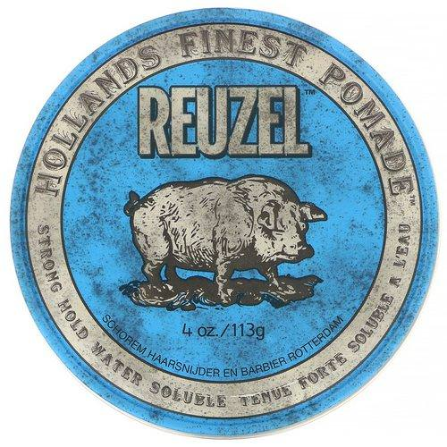 Reuzel, Blue Pomade, Water Soluble, Strong Hold, 4 oz (113 g) فوائد