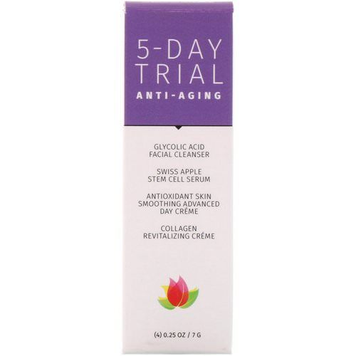 Reviva Labs, 5-Day Trial Kit, Anti-Aging, 4 Piece Kit, 0.25 oz (7 g) Each فوائد