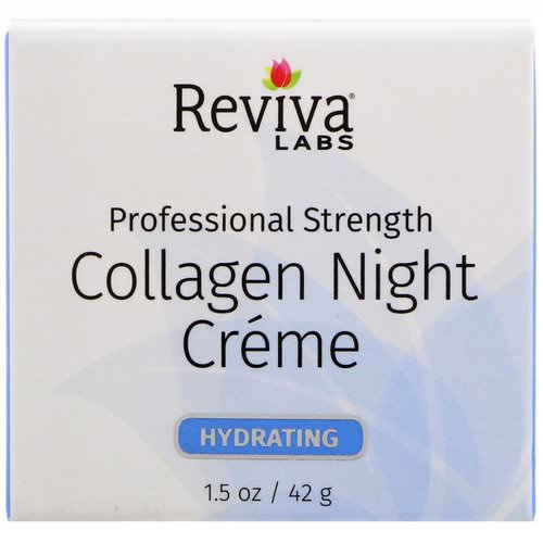 Reviva Labs, Collagen Night Creme, 1.5 oz (42 g) فوائد
