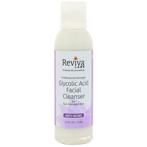 Reviva Labs, Glycolic Acid Facial Cleanser, 4 fl oz (118 ml) فوائد