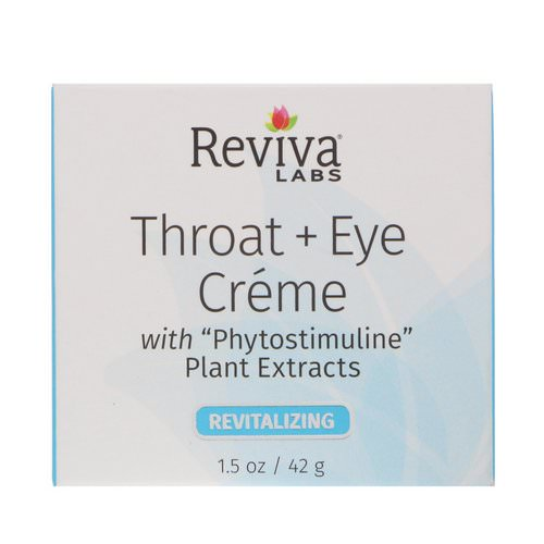 Reviva Labs, Throat + Eye Cream, 1.5 oz (41 g) فوائد
