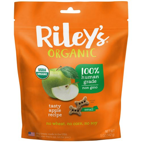 Riley's Organics, Dog Treats, Small Bone, Tasty Apple Recipe, 5 oz (142 g) فوائد