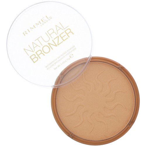 Rimmel London, Natural Bronzer, Waterproof Bronzing Powder, 020 Sunshine, 0.49 oz (14 g) فوائد