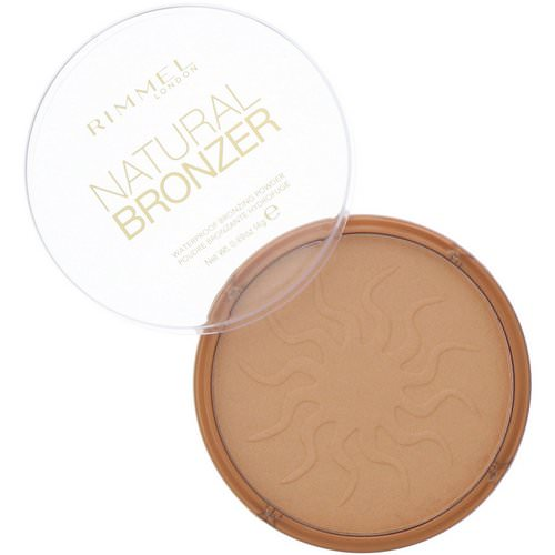 Rimmel London, Natural Bronzer, Waterproof Bronzing Powder, 021 Sun Light, 0.49 oz (14 g) فوائد