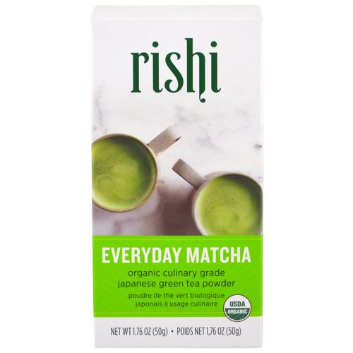 Rishi Tea, Organic Everyday Matcha Powder, 1.76 oz (50 g) فوائد