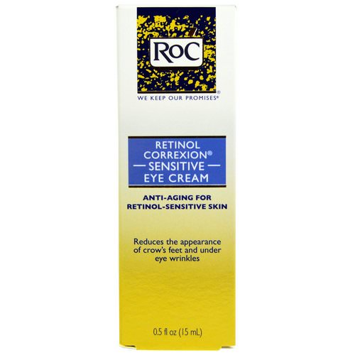 RoC, Retinol Correxion Sensitive Eye Cream, 0.5 fl oz (15 ml) فوائد