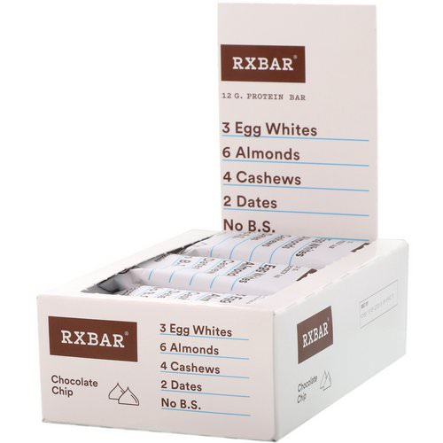 RXBAR, Protein Bars, Chocolate Chip, 12 Bars, 1.83 oz (52 g) Each فوائد