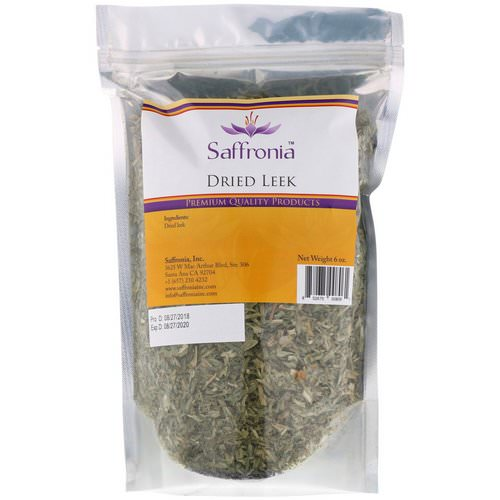 Saffronia, Dried Leek, 6 oz فوائد