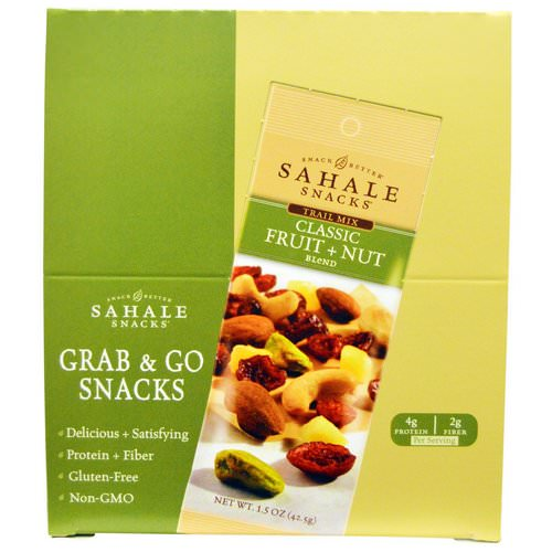 Sahale Snacks, Trail Mix, Classic Fruit + Nut Blend, 9 Packs, 1.5 oz (42.5 g) Each فوائد