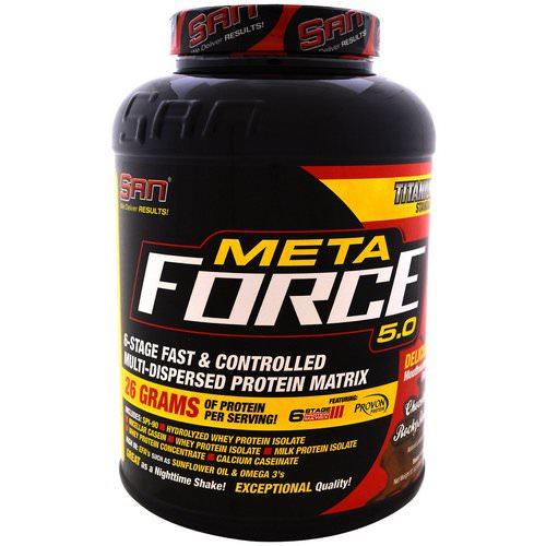 SAN Nutrition, Metaforce 5.0, Chocolate Rocky Road, 5.06 lb (2297 g) فوائد