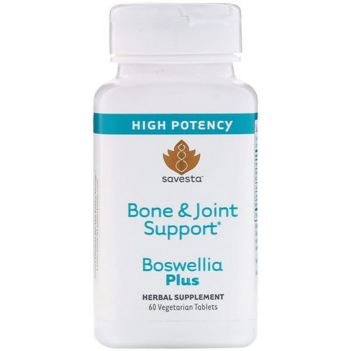 Savesta, Bone & Joint Support, Boswellia Plus, 60 Vegetarian Tablets فوائد