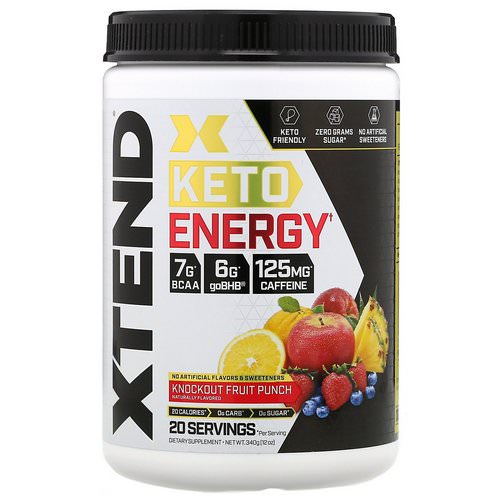 Scivation, Xtend, Keto Energy, Knockout Fruit Punch, 12 oz (340 g) فوائد