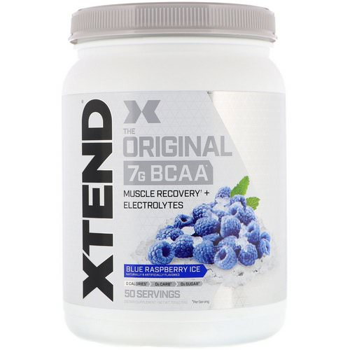Scivation, Xtend, The Original 7g BCAA, Blue Raspberry Ice, 1.5 lb (700 g) فوائد
