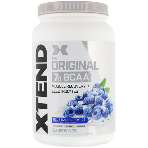Scivation, Xtend, The Original 7G BCAA, Blue Raspberry Ice, 2.78 lb (1.26 kg) فوائد