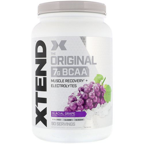 Scivation, Xtend, The Original 7G BCAA, Glacial Grape, 2.68 lb (1.22 kg) فوائد