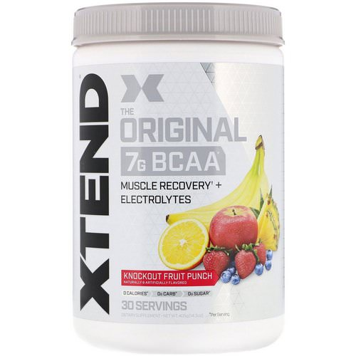 Scivation, Xtend, The Original 7G BCAA, Knockout Fruit Punch, 14.3 oz (405 g) فوائد
