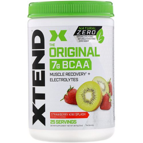 Scivation, Xtend, The Original 7G BCAA, Natural Zero, Strawberry Kiwi Splash, 13 oz (367.5 g) فوائد
