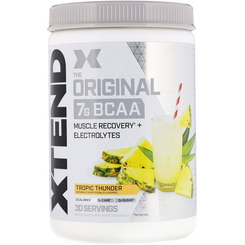 Scivation, Xtend, The Original 7G BCAA, Tropic Thunder, 14.8 oz (420 g) فوائد