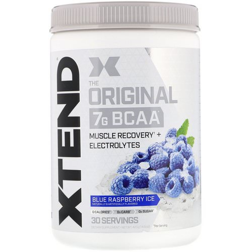 Scivation, Xtend, The Original 7G BCAA, Blue Raspberry Ice, 14.8 oz (420 g) فوائد
