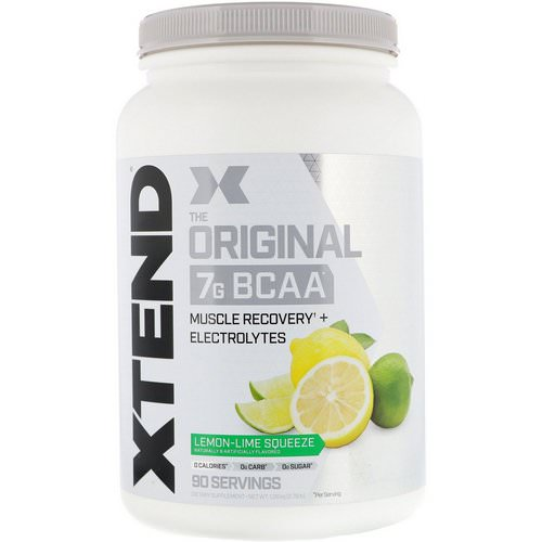 Scivation, Xtend, The Original 7G BCAA, Lemon-Lime Squeeze, 2.78 lb (1.26 kg) فوائد