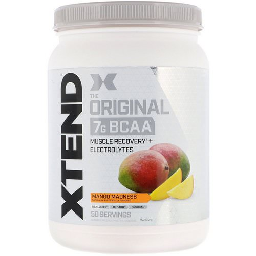 Scivation, Xtend, The Original 7g BCAA, Mango Madness, 1.5 lb (700 g) فوائد
