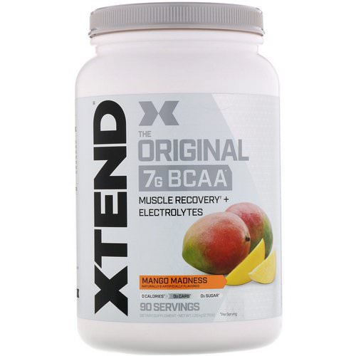 Scivation, Xtend, The Original 7G BCAA, Mango Madness, 2.78 lb (1.26 kg) فوائد