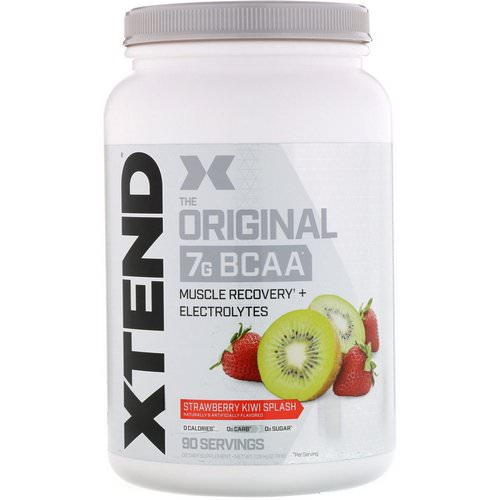 Scivation, Xtend, The Original 7G BCAA, Strawberry Kiwi Splash, 2.78 lb (1.26 kg) فوائد