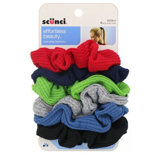 Scunci, Effortless Beauty, Thermal Twisters, Assorted Colors, 6 Pieces فوائد