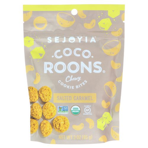 Sejoyia, Coco-Roons, Chewy Cookie Bites, Salted Caramel, 3 oz (85 g) فوائد