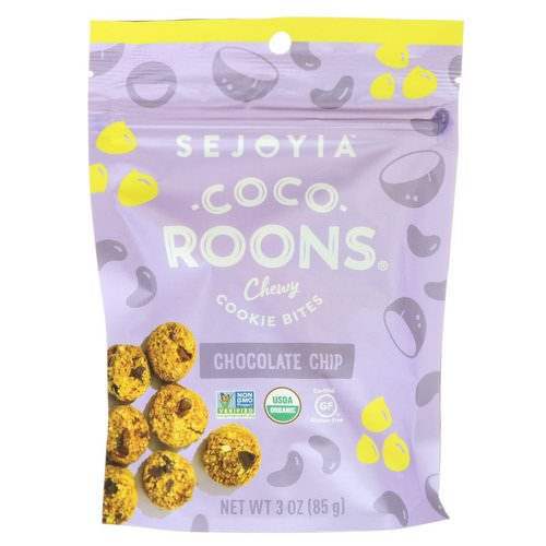 Sejoyia, Coco-Roons, Chewy Cookie Bites, Chocolate Chip, 3 oz (85 g) فوائد