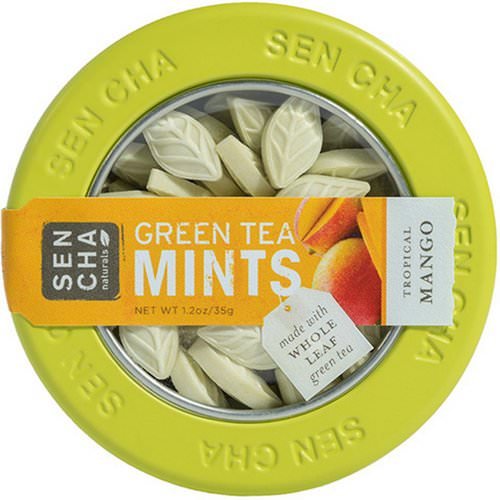 Sencha Naturals, Green Tea Mints, Tropical Mango, 1.2 oz (35 g) فوائد