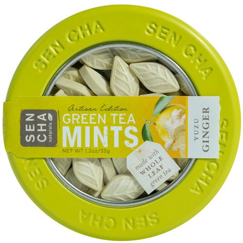 Sencha Naturals, Green Tea Mints, Yuzu Ginger, 1.2 oz (35 g) فوائد