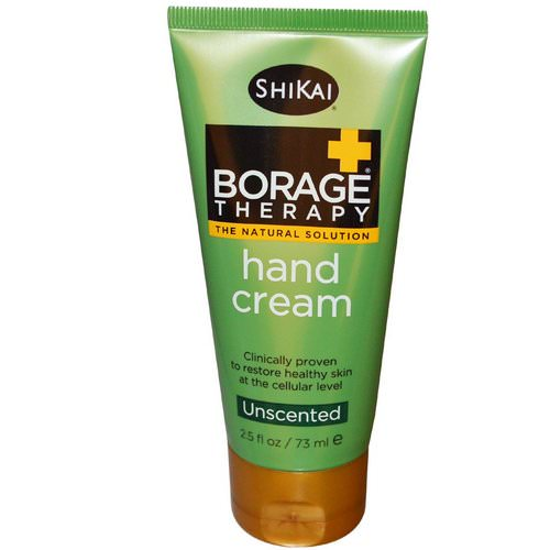 Shikai, Borage Therapy, Hand Cream, Aloe Vera Gel, Unscented, 2.5 fl oz (73 ml) فوائد