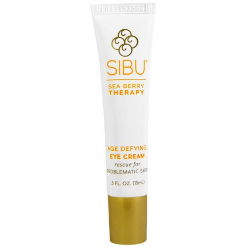 Sibu Beauty, Sea Berry Therapy, Age Defying Eye Cream, Sea Buckthorn Oil, T7, 0.5 fl oz (15 ml) فوائد