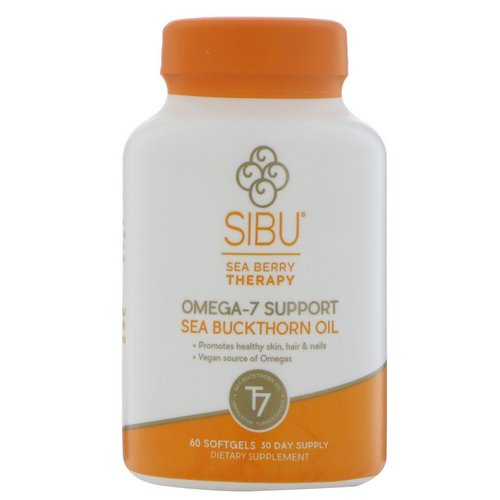 Sibu Beauty, Sea Berry Therapy, Omega-7 Support, Sea Buckthorn Oil, 60 Softgels فوائد