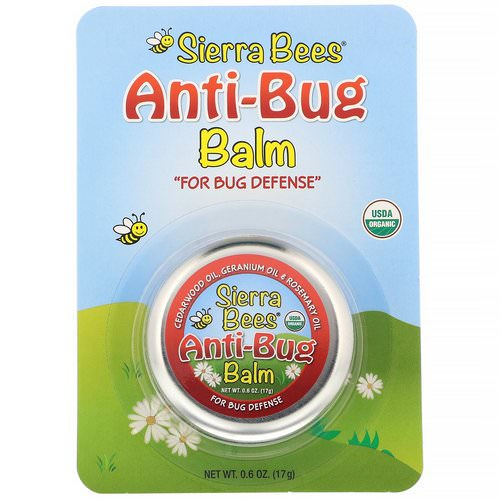 Sierra Bees, Anti-Bug Balm, Cedarwood, Geranium & Rosemary Oil, 0.6 oz (17 g) فوائد