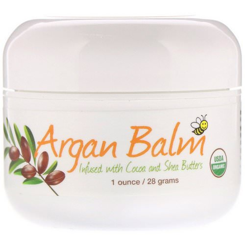 Sierra Bees, Argan Balm With Cocoa & Shea Butter, 1 oz (28 g) فوائد