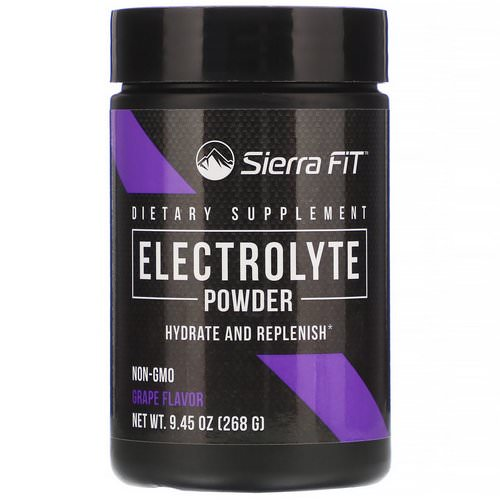 Sierra Fit, Electrolyte Powder, 0 Calories, Grape, 9.45 oz (268 g) فوائد
