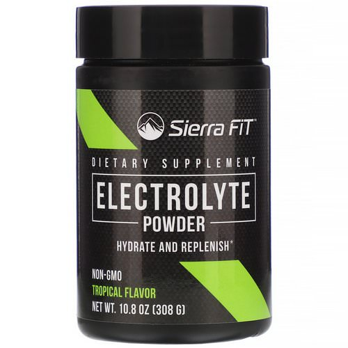 Sierra Fit, Electrolyte Powder, 0 Calories, Tropical, 10.8 oz (308 g) فوائد