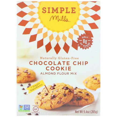 Simple Mills, Naturally Gluten-Free, Chocolate Chip Cookie Almond Flour Mix, 9.4 oz (265 g) فوائد