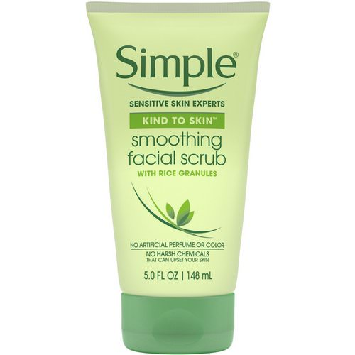 Simple Skincare, Smoothing Facial Scrub, 5 fl oz (148 ml) فوائد