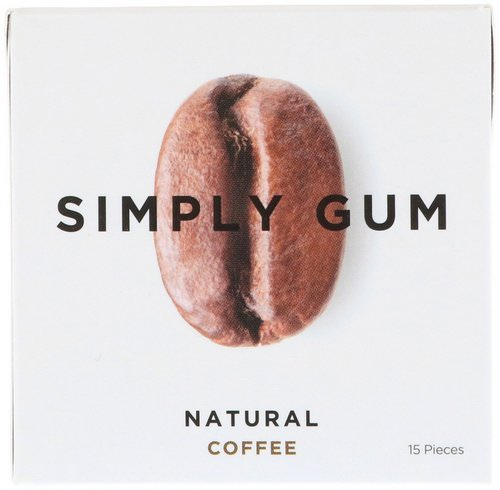 Simply Gum, Gum, Natural Coffee, 15 Pieces فوائد