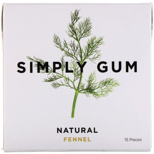 Simply Gum, Gum, Natural Fennel, 15 Pieces فوائد