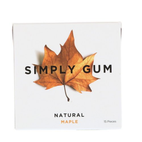 Simply Gum, Gum, Natural Maple, 15 Pieces فوائد