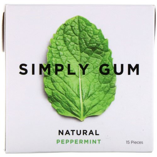 Simply Gum, Gum, Natural Peppermint, 15 Pieces فوائد
