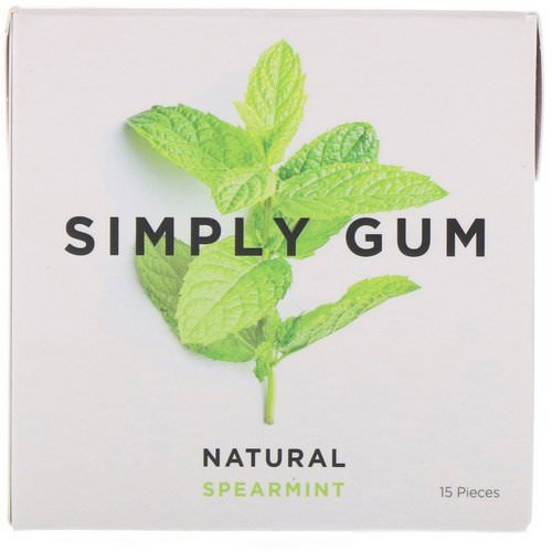 Simply Gum, Spearmint Natural Gum, 15 Pieces فوائد