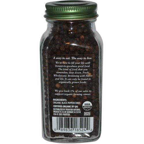 Simply Organic, Black Peppercorns, 2.65 oz (75 g) فوائد