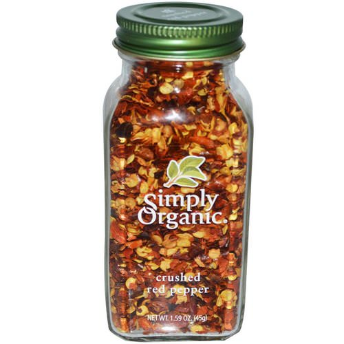 Simply Organic, Crushed Red Pepper, 1.59 oz (45 g) فوائد